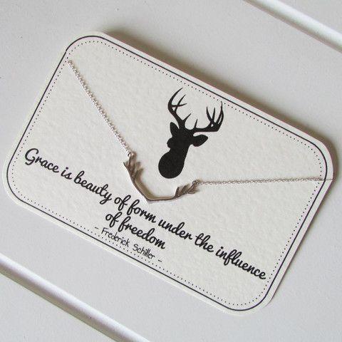 925 Deer antler necklace