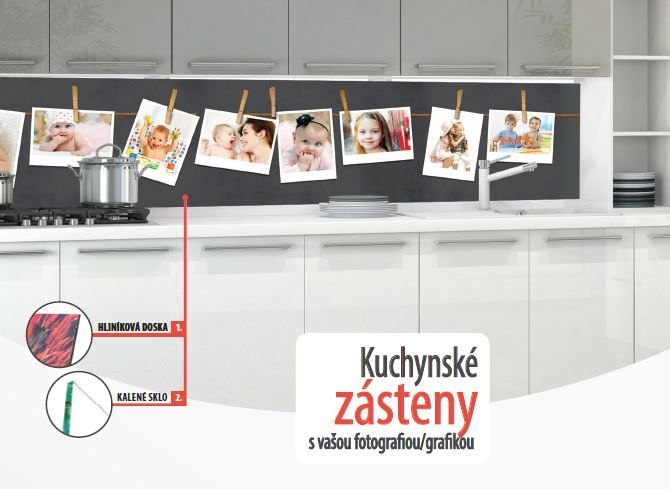 Original design kitchen based on photography. #kuchynské zásteny# Zásteny zo skla, alebo hliníkovej dosky