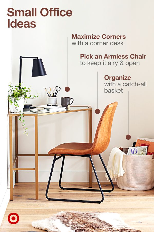 Set Up A Corner Office In Your Home With Small Workspace Ideas Design Tips To Make The Most Furniture For Small Spaces Small Home Offices Home Office Design