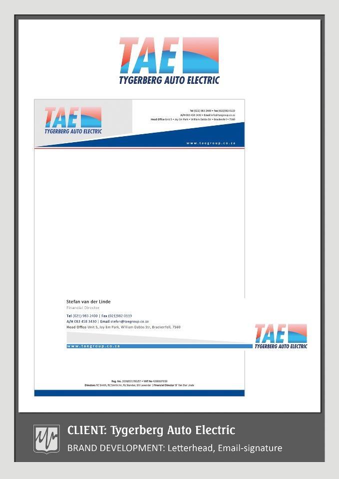 BRAND DEVELOPMENT: Letterhead, Email-signature