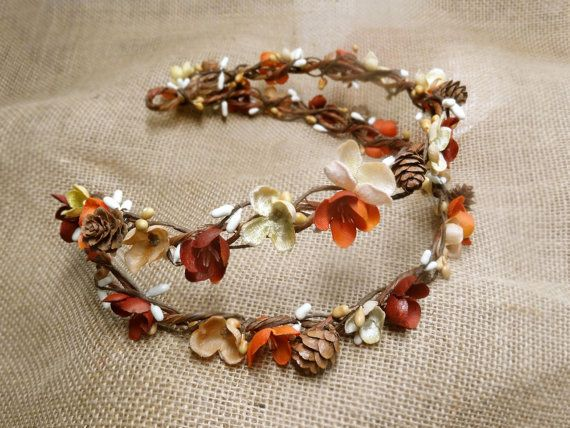 fall wedding hair accessories fall crown fall by thehoneycomb