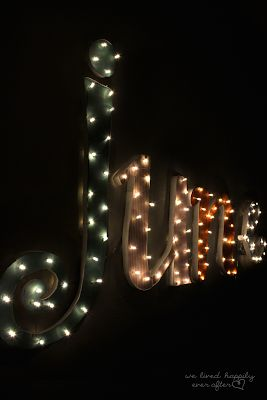 Put Your Name In Lights Tutorial