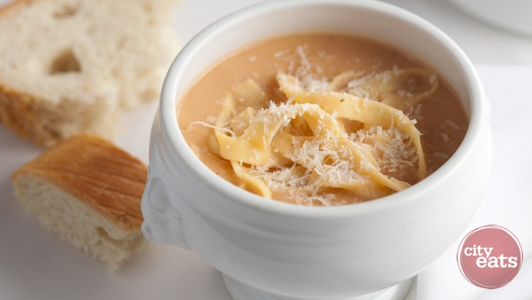Zuppa di Fagioli Bianchi (Tuscan white bean soup) from i Ricchi in Washington, DC.