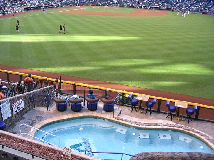 Take a dip in the pool at Chase Stadium!