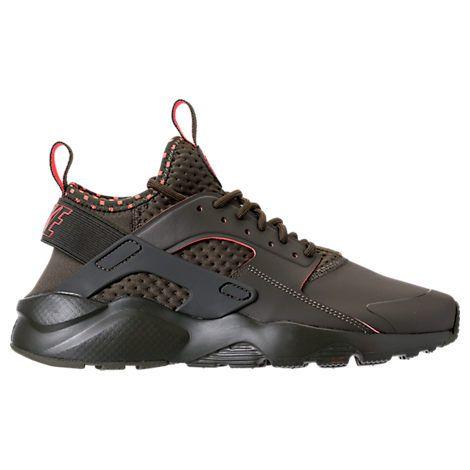 NIKE MEN'S AIR HUARACHE RUN ULTRA SE CASUAL SHOES, GREEN. #nike #shoes #