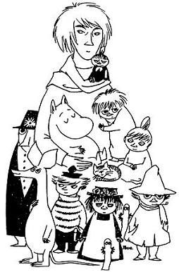 MOOMINS with novelist, painter, illustrator and comic strip author Tove Marika Jansson (1914-2001) #tovejansson