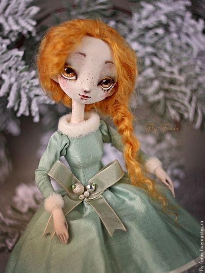 Muñecas de colección hechos a mano.  Masters Feria - Muñecas hechas a mano de tela - jengibre.  Hecho a mano. JULIA GORIN