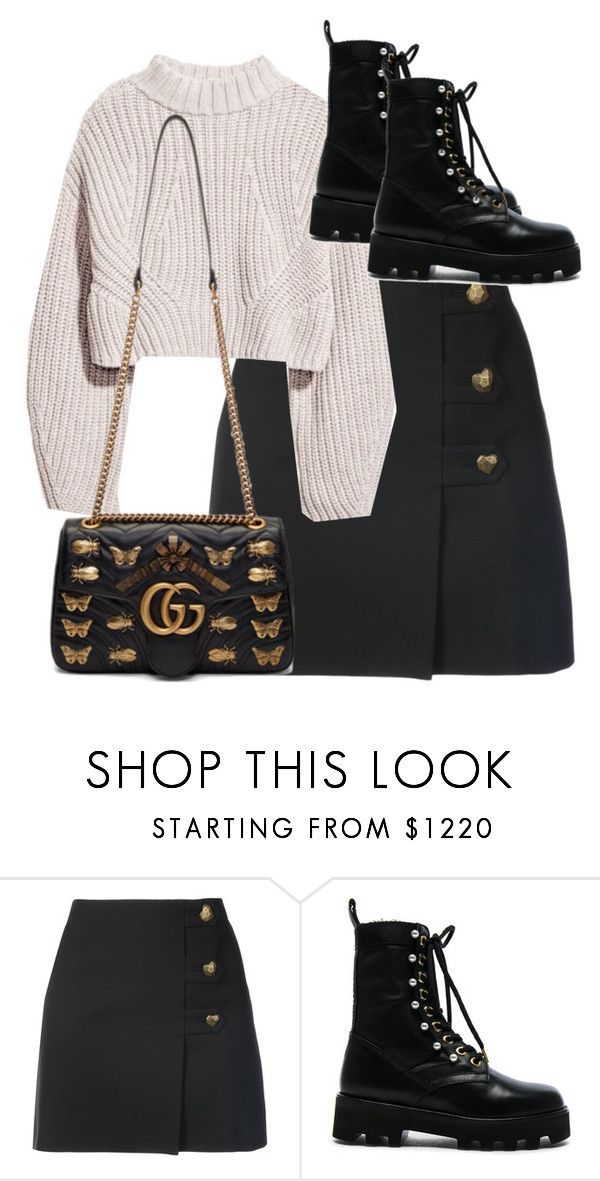 """Untitled #5006"" by theeuropeancloset ❤ liked on Polyvore featuring Yves Saint Laurent, Altuzarra and Gucci"