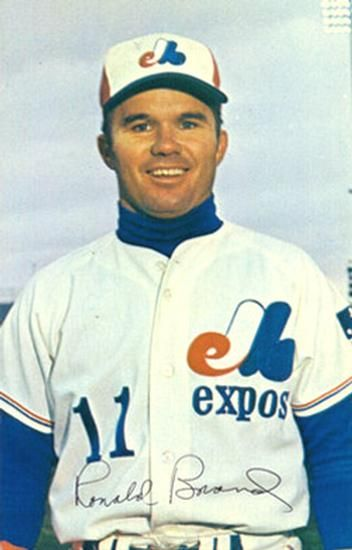 1969 Montreal Expos Postcards #16 Ron Brand Front