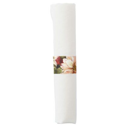 Mixed floral Vintage graden party napkin bands - kitchen gifts diy ideas decor special unique individual customized