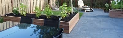 houten afsluiting planten