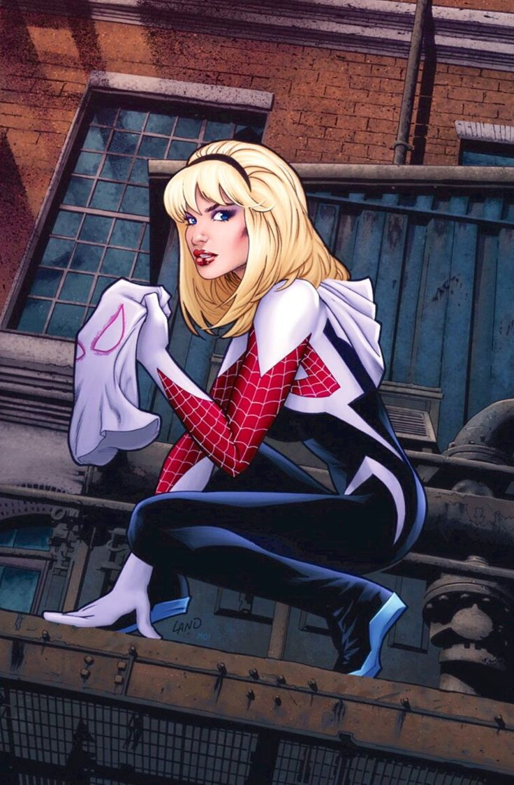 Gwen Stacy is Spider-Gwen - More at https://pinterest.com/supergirlsart/