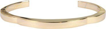 Pin for Later: Die wilden Siebziger sind zurück! Goldene Armreifen Chloé Armreif Scallops (140€)