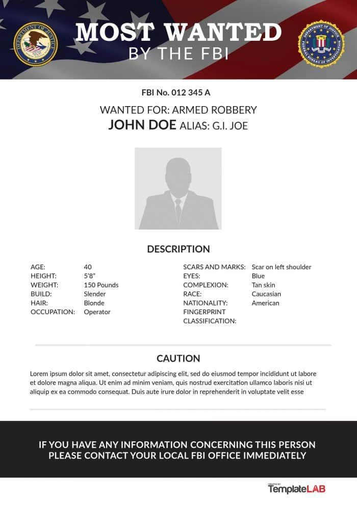Template Lab 29 Free Wanted Poster Templates Fbi And Old West B1ddb0e1 Resumesample Resumefor Poster Template Free Brochure Template Brochure Cover Design