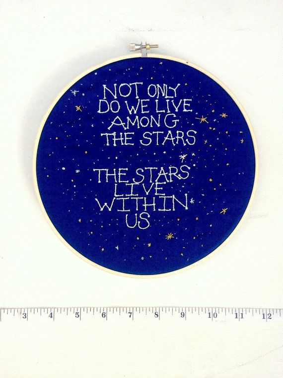 Neil DeGrasse Tyson Quote Embroidery by InTheRunningStitch on Etsy