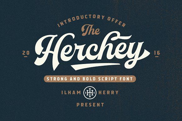 Herchey Script by ilhamherry on @creativemarket