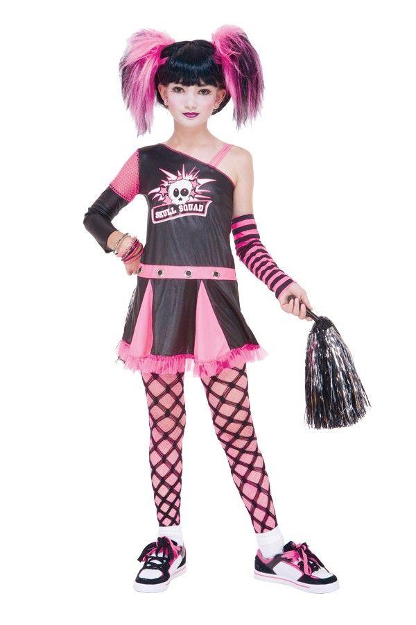 gothic cheerleader child girlu0027s costume
