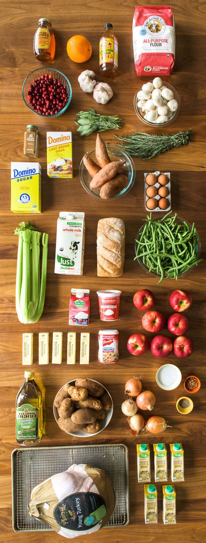 Not so scary, right? For a full grocery list, jump to the bottom of this post. This list assumes you have olive oil, kosher salt, and pepper. Buy some if you don't..