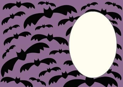 Halloween bats insert 1 on Craftsuprint designed by Sharon Poore - Halloween bats insert - Now available for download!