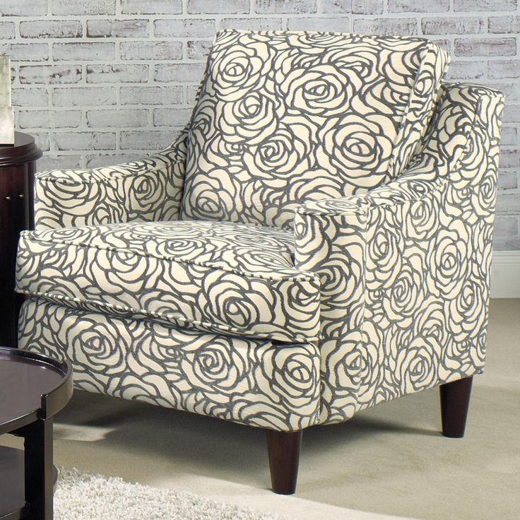 7933 Contemporary Upholstered Chair With Sloped Arms And Tapered Legs By  Craftmaster   Olindeu0027s Furniture   Upholstered Chair Baton Rouge And  Lafayette, ...