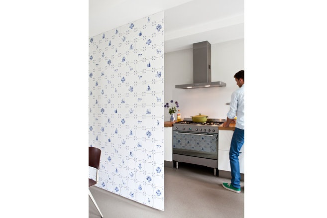 Royal Delft Room divider / Wallpaper