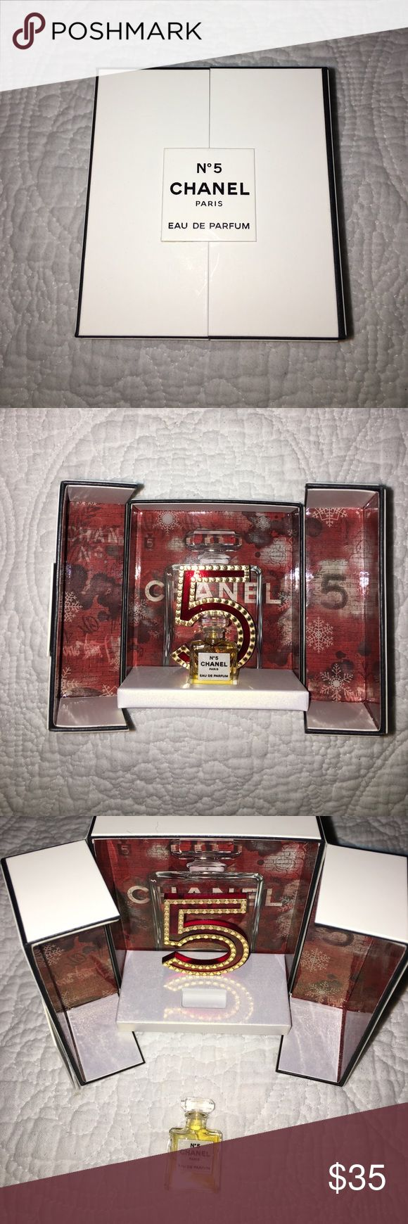 Chanel No 5 EDP 0.05 Fluid Ounces Limited Edition Authentic Chanel No 5 Eau de Parfum. Never been opened nor used. Add this miniature to your luxury perfume collection! CHANEL Other