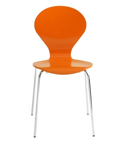Simple orange chair. - fun for desk chair or just for putting on shoes