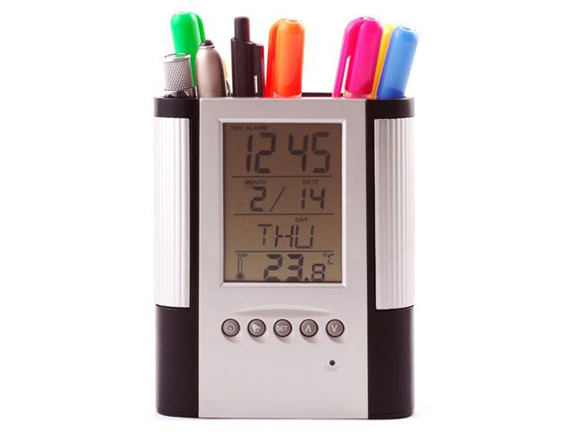 LCD Stationary Clock at Office accessories | Ignition Marketing Corporate Gifts