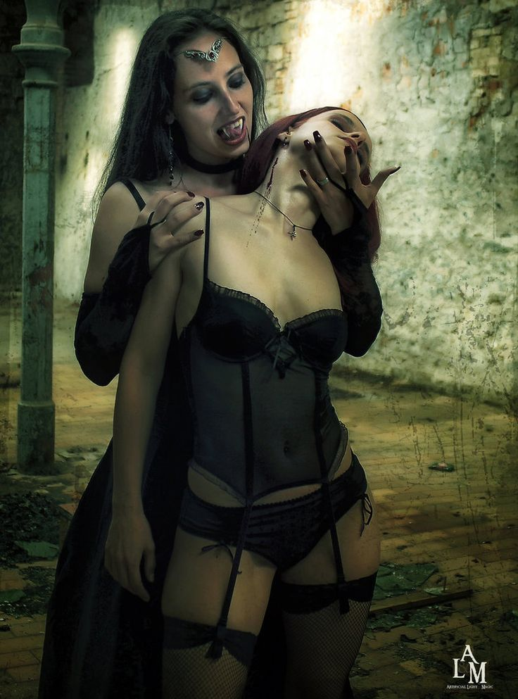 Sexy gothic vampire lady for goth day