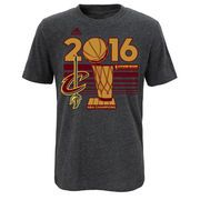 Youth Cleveland Cavaliers adidas Charcoal 2016 NBA Finals Champions Locker Room T-Shirt