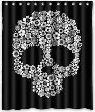 """Хиты 2014 продажа CozyBath сахар-череп полиэстера 60 """" ( ш ) x 72 """" ( h ) занавески для душа и крючки"""