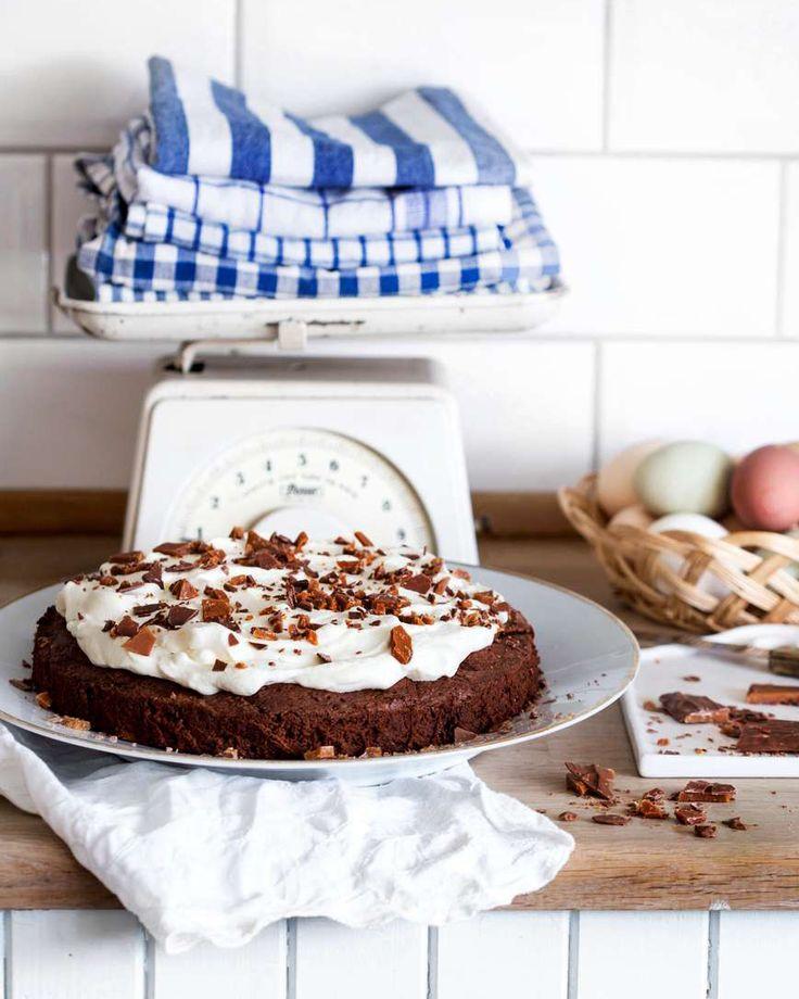 Recept på lättlagad saftig chokladkaka med extra crunch av Dajm!