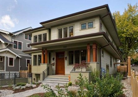 28 best images about american foursquare houses on for Prefab arts and crafts homes