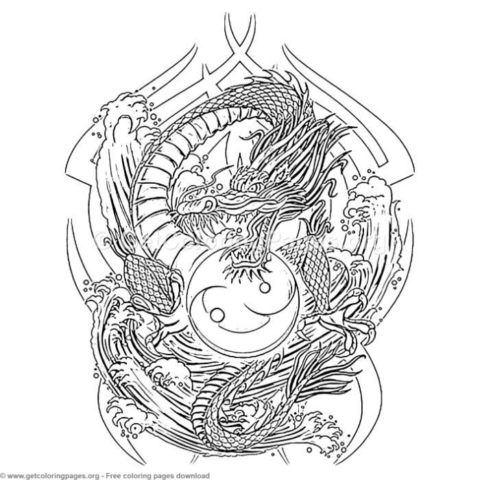 Creative Art Yin Yang Dragon Coloring Pages Getcoloringpages Org Coloring Coloringbook Dragon Coloring Page Avengers Coloring Pages Mermaid Coloring Pages