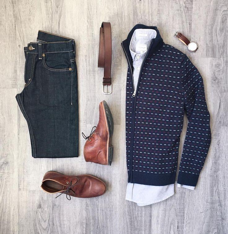 "401 Me gusta, 10 comentarios - Mitch Yasui (@mitchyasui) en Instagram: ""Big fan of the zip cardigan tbh. Sweater, shirt, belt: @frankandoak Denim: @levis Boots:…"""