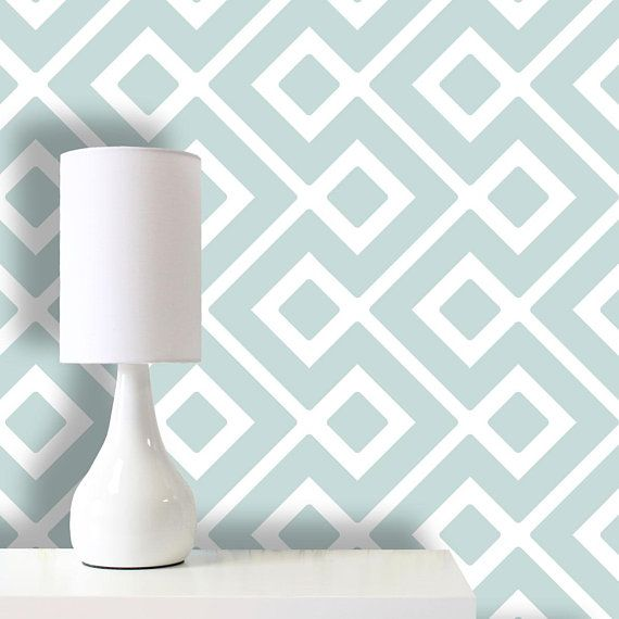 Joined Squares Wallpaper Removable Wallpaper Self Adhesive Etsy Removable Wallpaper Wallpaper Feature Wall