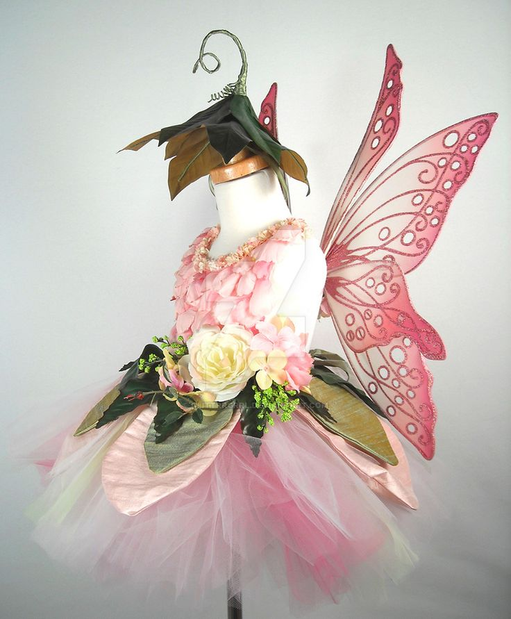 This was definitely a labor of love, and I plan to offer these children's fairy sets in my Etsy shop from time to time. The set begins with a hand-tied tulle tutu in two shades of pink as well as s...