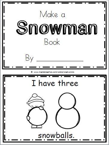 Make a Snowman Mini Book