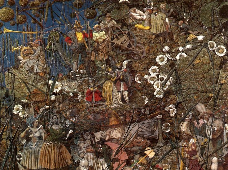 Richard Dadd was a promising British painter who went insane in the 1840s. He made his painting The Fairy Feller's Master Stroke in an asylum.