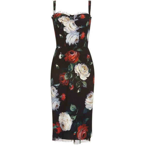 Floral Cocktail Dress | Moda Operandi (49 805 UAH) via Polyvore featuring dresses, sweetheart neckline dress, mid calf dresses, floral print dress, sweetheart neckline cocktail dress и calf length dresses