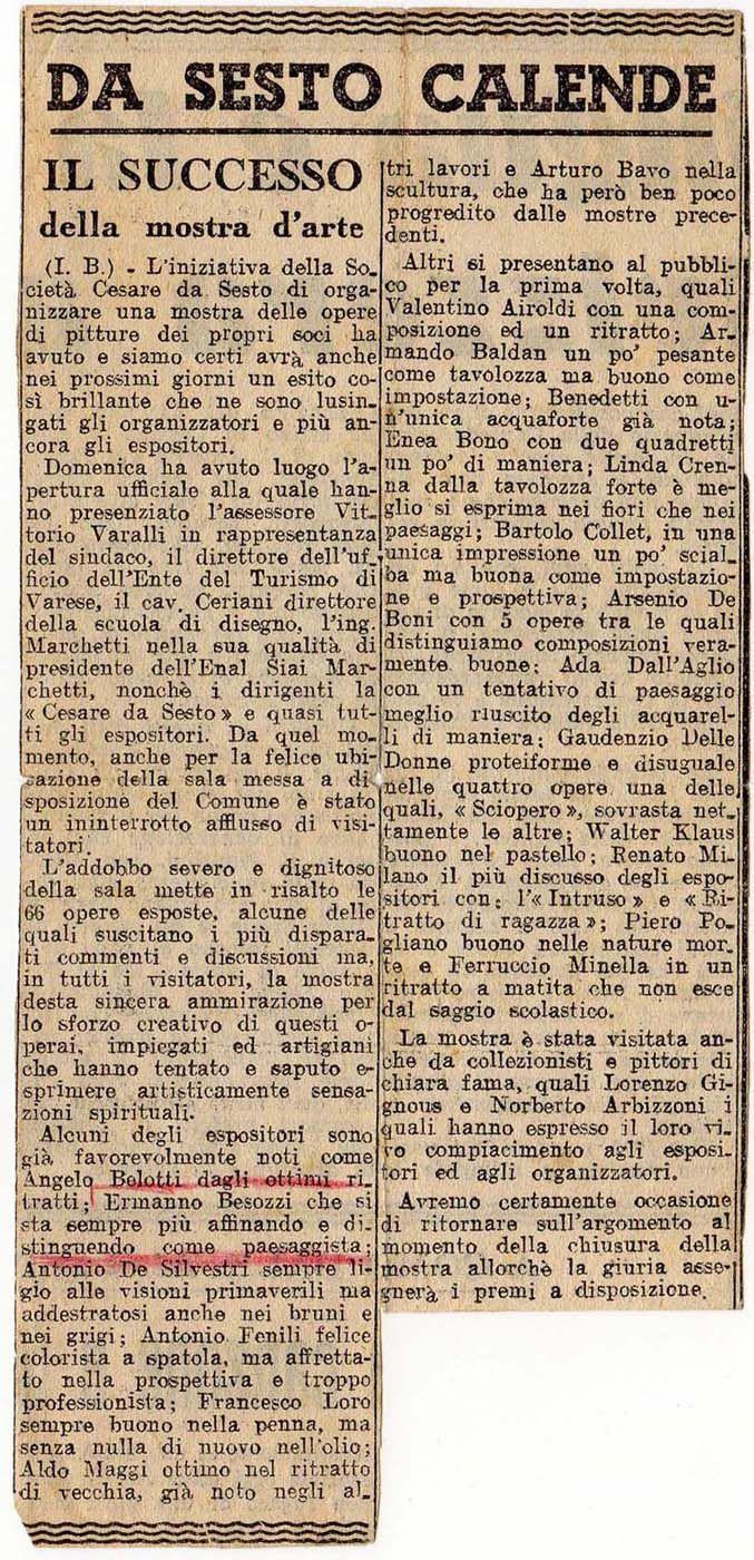 1949 Giornale La Prealpina, Varese