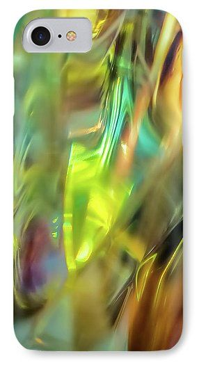 Jane Star IPhone 7 Case featuring the photograph Leaves On The Grass by Jane Star  #JaneStar #IPhoneCase #Abstract #Green #Glass