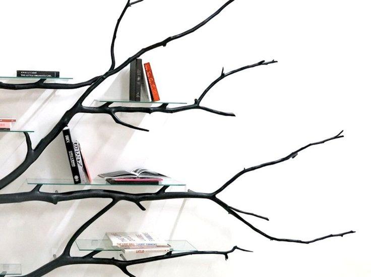 Inedit: rafturi de cărți din crengi uscate | Casă | MagMob