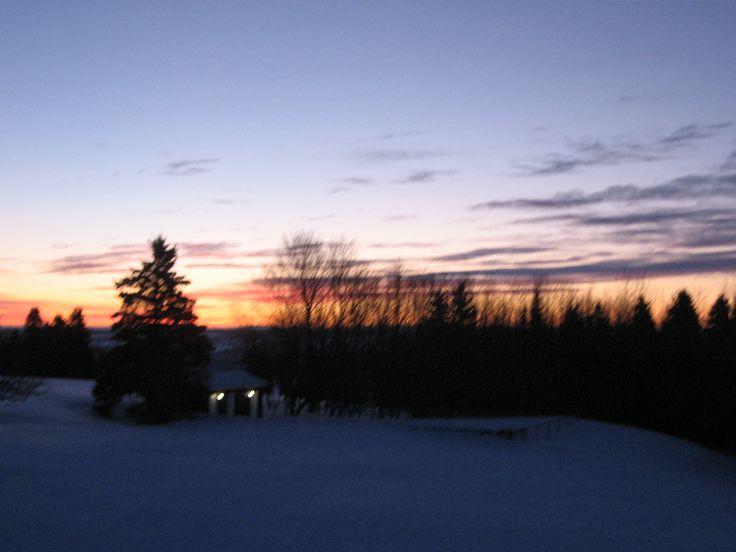 Couché du soleil d'hiver