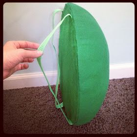 The Almost Perfectionist: Homemade Turtle Costume (the shell is perfect for bowser Halloween costume!)