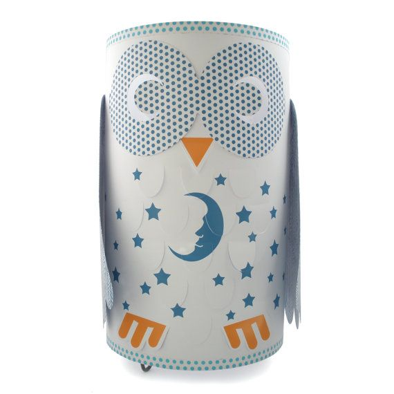 Hey, I found this really awesome Etsy listing at https://www.etsy.com/listing/216335511/owl-childrens-table-lamp-blue