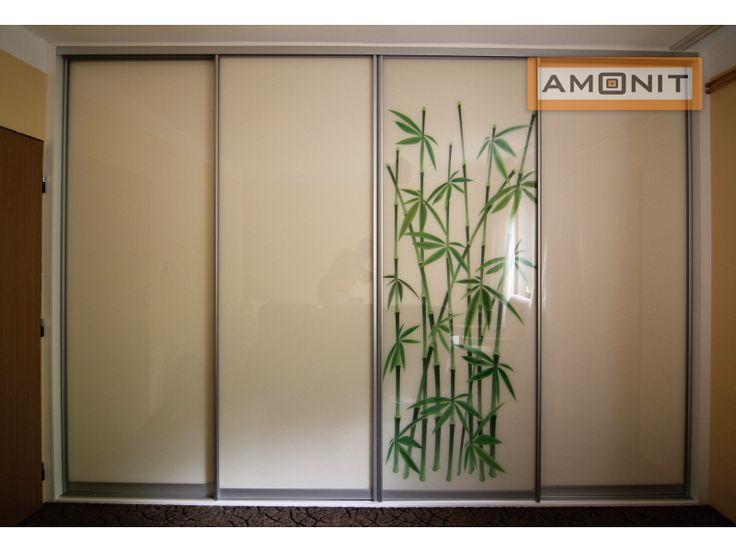 Posuvné dveře s potiskem bambus www.amonit.cz