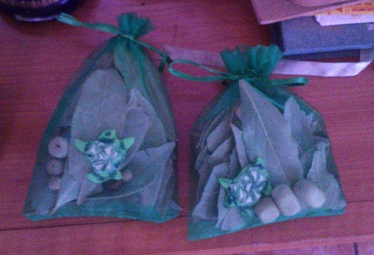 Saquitos de la suerte ritualizados con tortugas    http://tarotmayra.blogspot.com.es    http://wizardluckyshop.blogspot.com.es