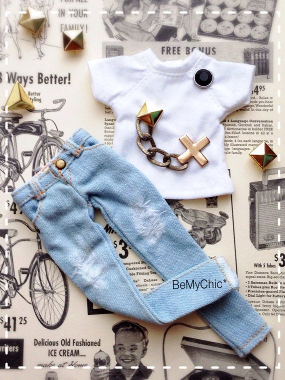 Hey, I found this really awesome Etsy listing at https://www.etsy.com/listing/205099538/blythe-dress-cloth-outfit-rock-tshirt