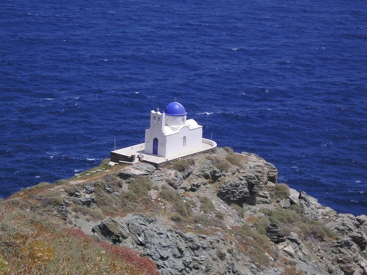"Church on the Greek island of Sifnos, much like the one depicted in my humorous suspense novel ""Ring of Fire."""